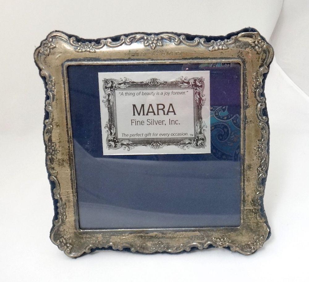 Vintage Sterling Silver Mara Photo Frame 7in Engraved Name Dates Vintage Sterling Silver Silver Sterling Silver