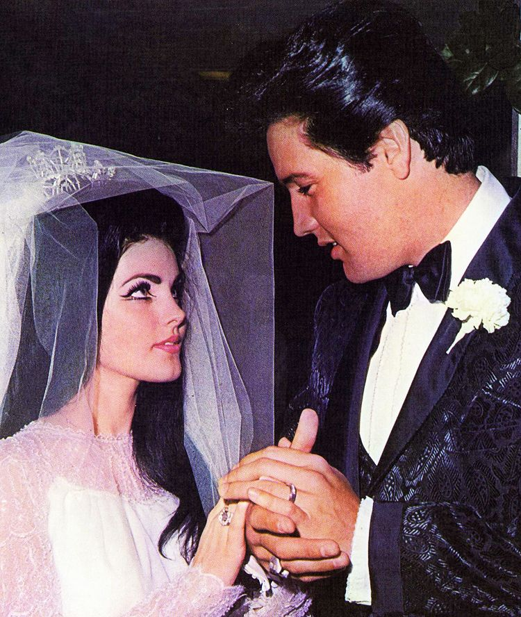 elvis presley and wife priscilla were married on may 1 1967. Black Bedroom Furniture Sets. Home Design Ideas