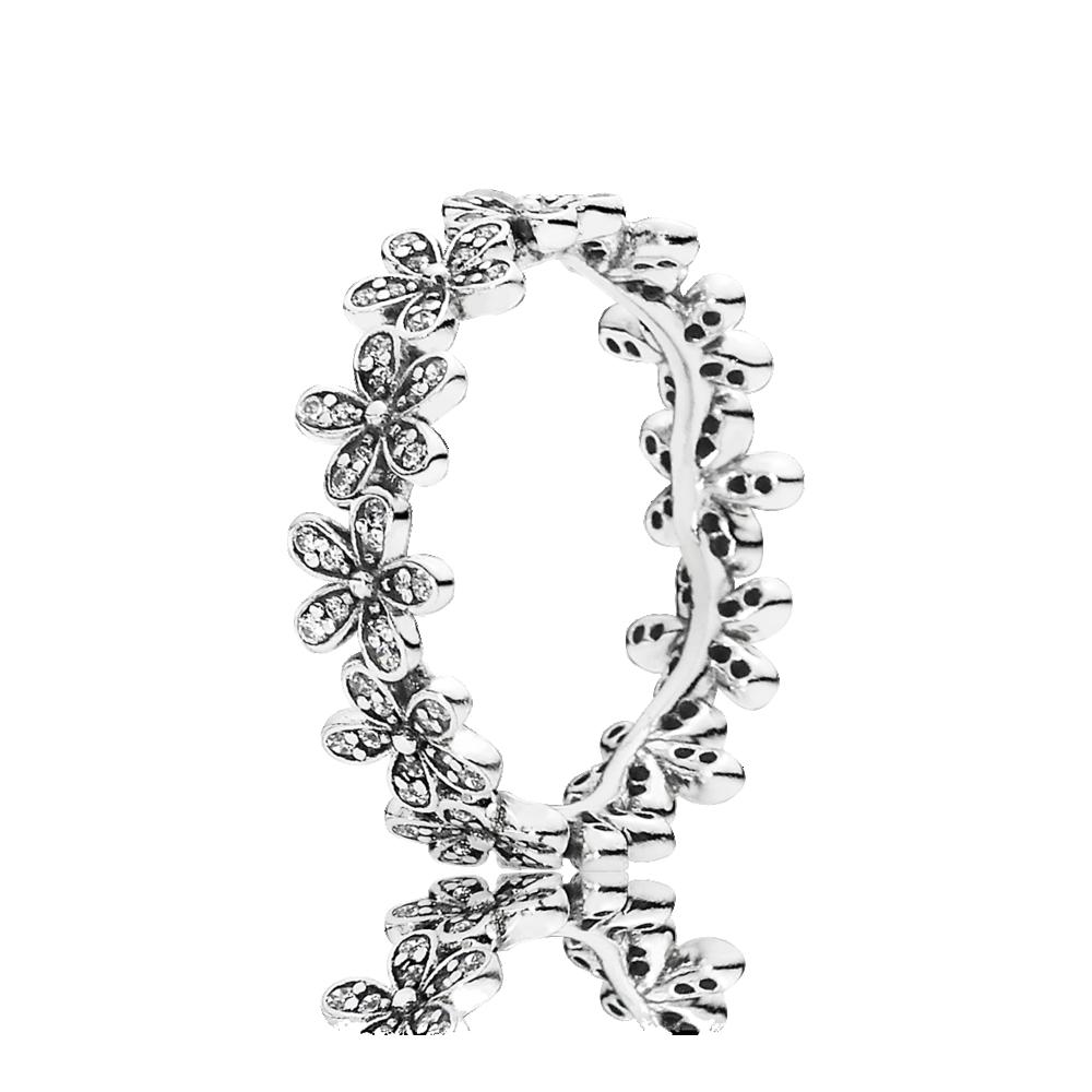 anillo margaritas deslumbrantes pandora