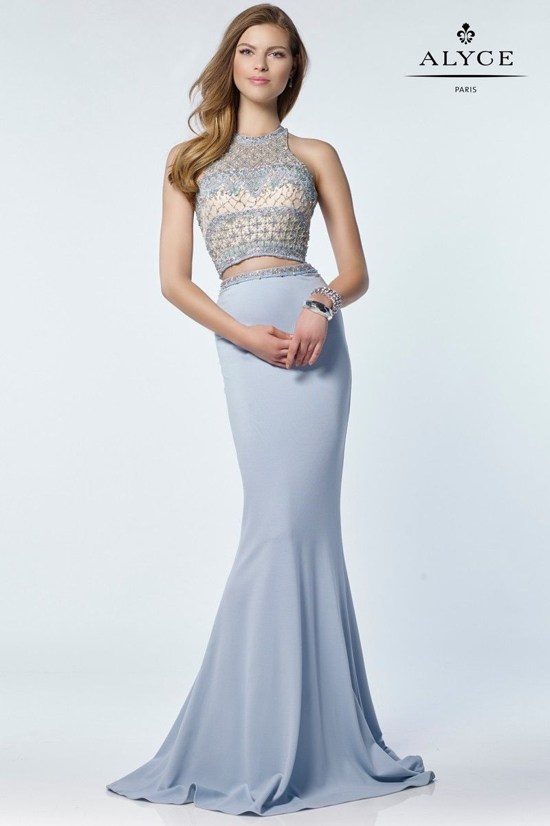 Alyce 6712 high style jersey two piece dress prom formal and gowns alyce 6712 high style jersey two piece dress ombrellifo Image collections