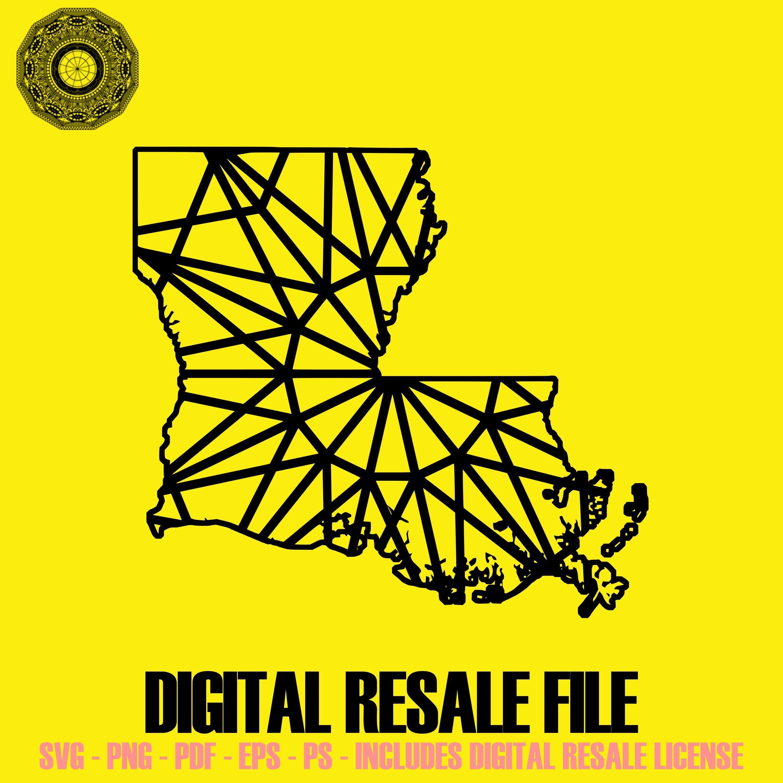 Louisiana Map Mandala SVG November Collection Digital