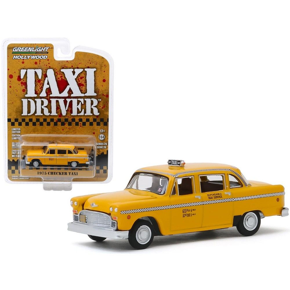 // Taxi Driver Travis Bickle/'s 1//64 Scale 1975 Checker Taxicab