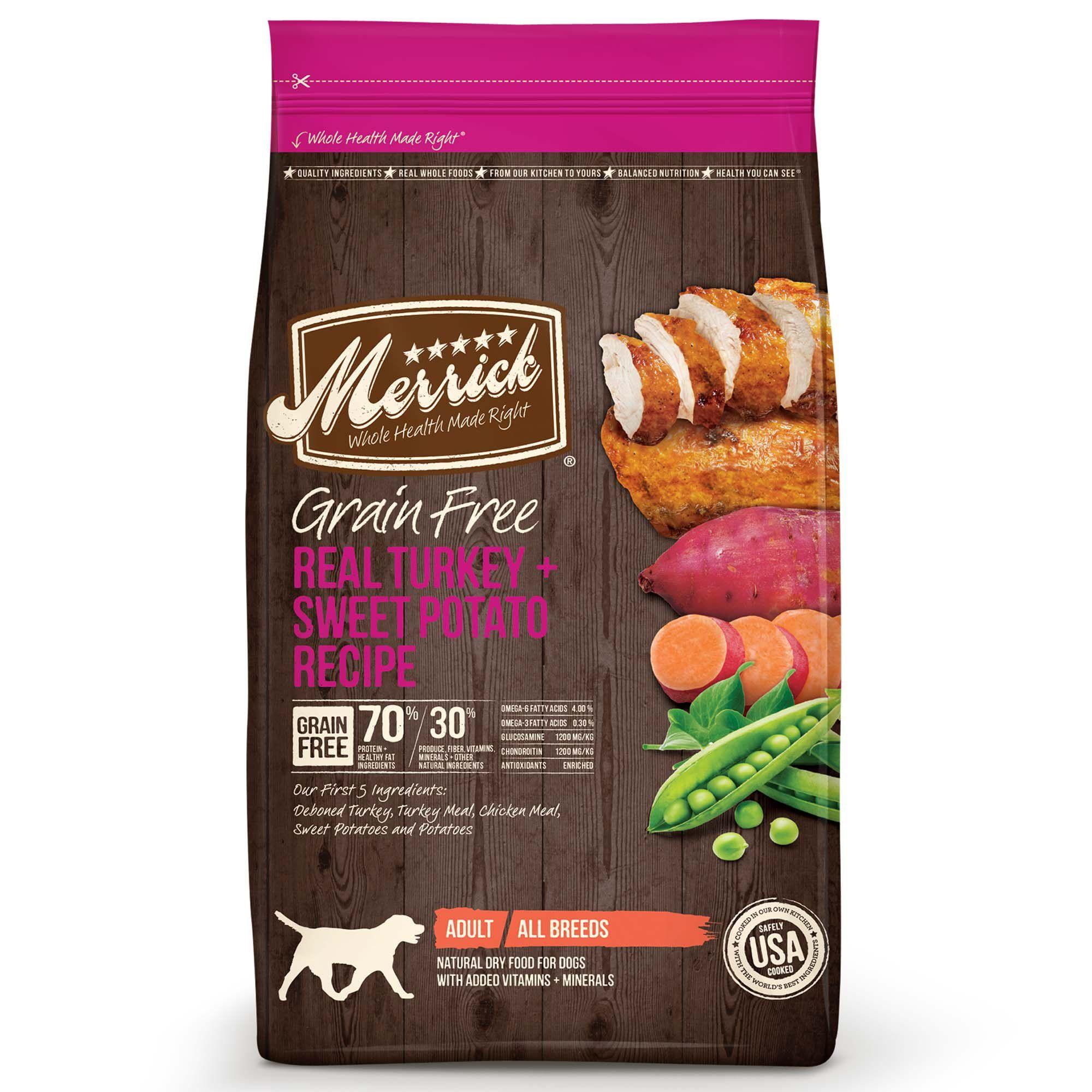 Merrick Grain Free Real Turkey Sweet Potato Dry Dog Food 25 Lbs