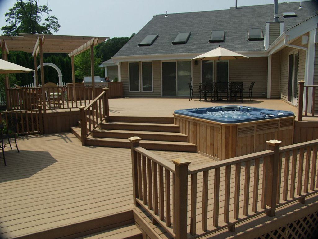 13 Genius Concepts of How to Craft Backyard Deck Ideas With Hot Tub #hottubdeck