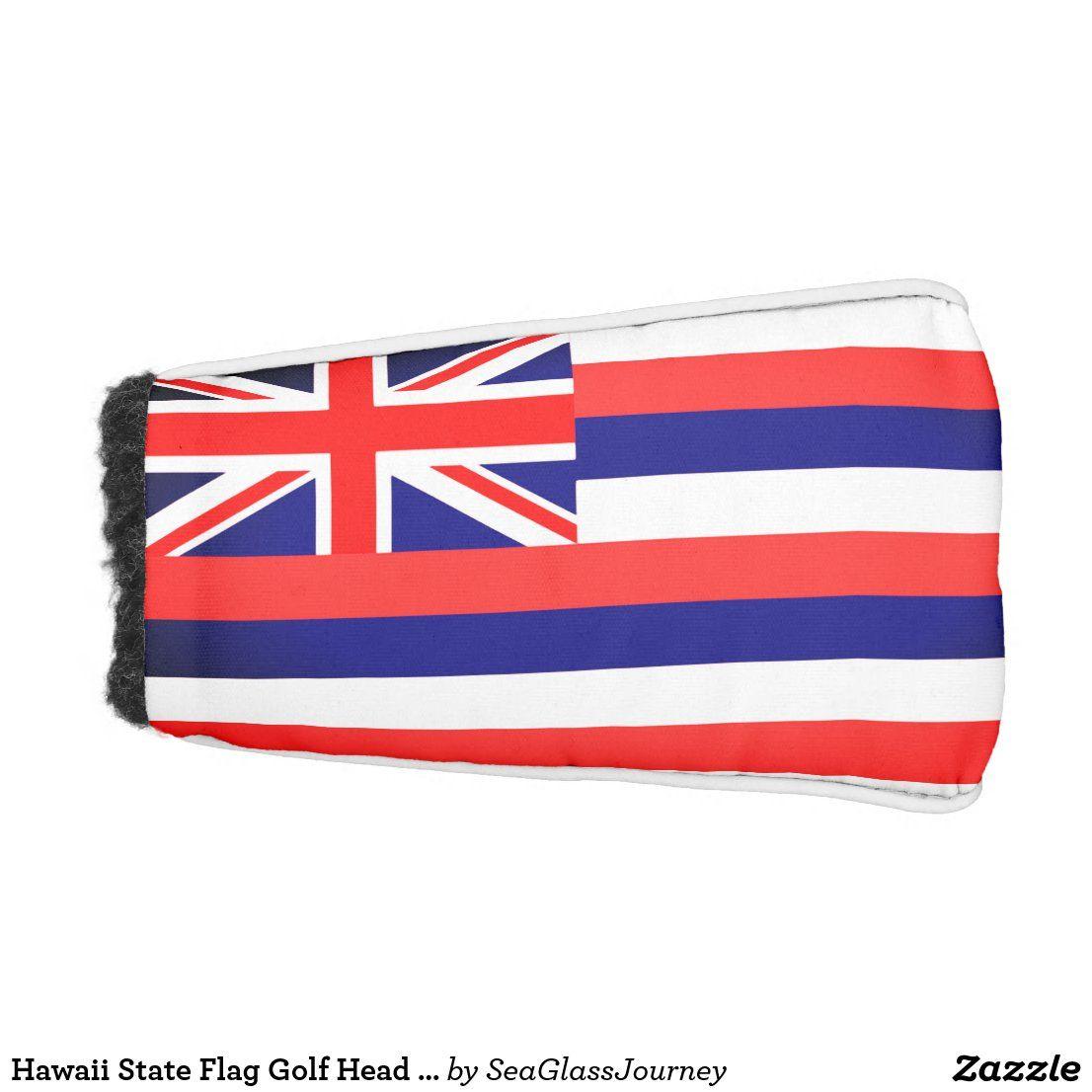 Hawaii State Flag Golf Head Cover Zazzle Com In 2020 Golf Putters Golf Head Covers Hawaii Flag