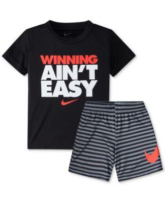 3f52dd29bff0 Nike 2-Pc. Graphic-Print T-Shirt & Shorts Set, Baby Boys (0-24 months)