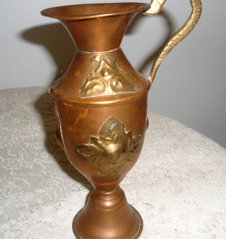 Vintage vasebrass and copper urnhandmade copper and brass ewer vintage vasebrass and copper urnhandmade copper and brass ewerbrass pitcher reviewsmspy