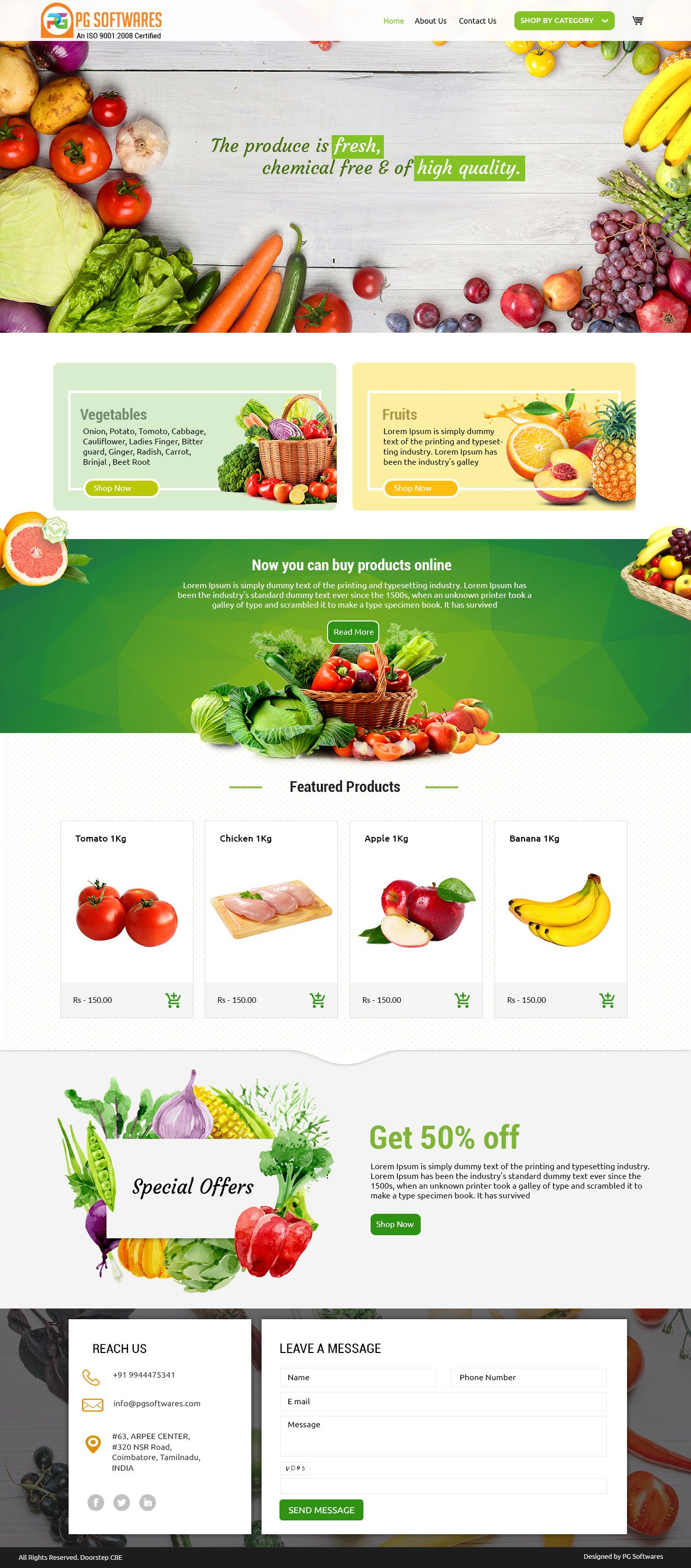 Organic Foods Ecommerce Website Template Food E Commerce