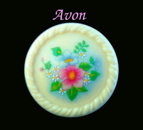 Vintage Avon Brooch Porcelain with Flowers by MarlosMarvelousFinds