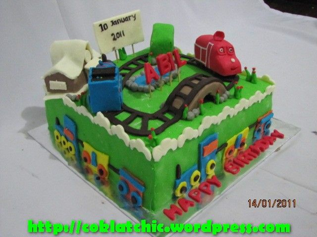 Kue ulang tahun chuggington dan thomas Birthday Cake Pinterest