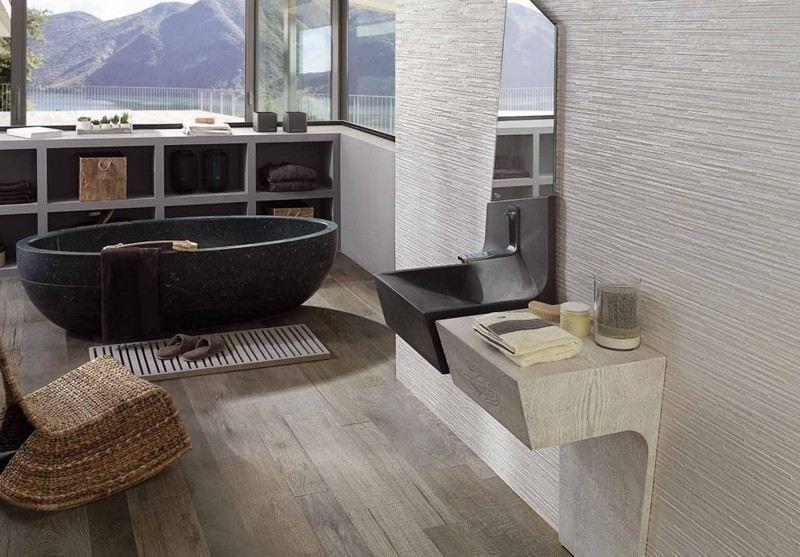 Salle de bain moderne - les tendances actuelles en 55 photos Wallpaper - carrelage en pierre naturelle salle de bain