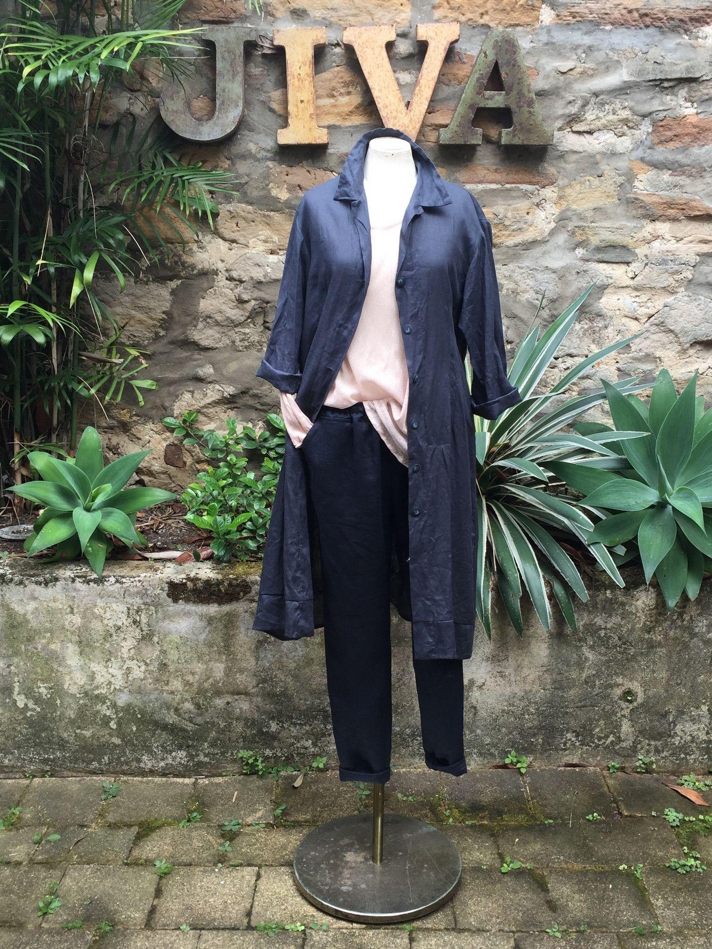 0e90eff3fb Jiva Linen Coat - Slate – Jiva Clothing