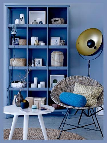 Inspirations Deco Bleu Pastel Fauteuil Rotin Deco Bleue Et