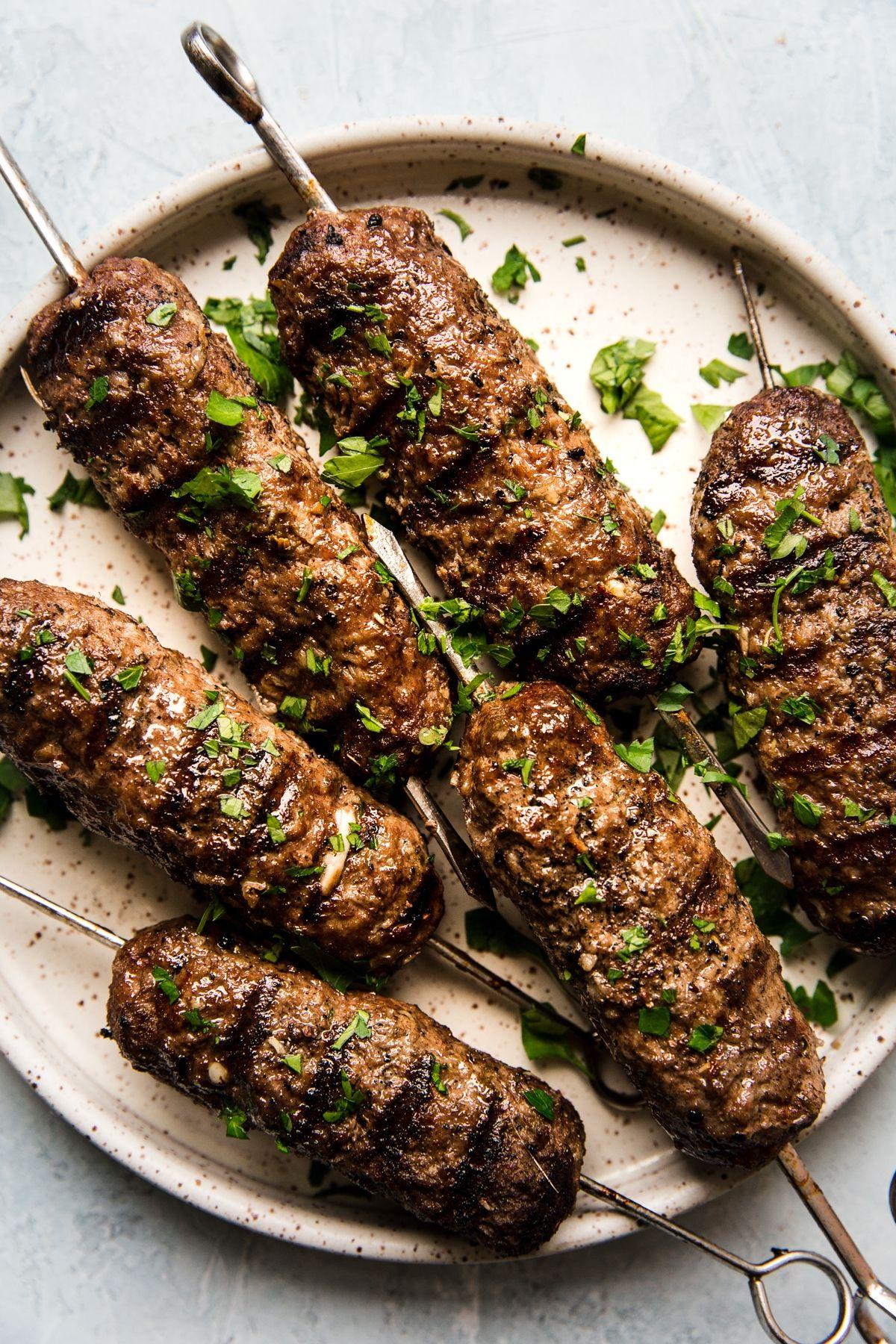 Beef Kofta Kababs With Tzatziki The Modern Proper Recipe Beef Kofta Recipe Kofta Recipe Kebab Recipes
