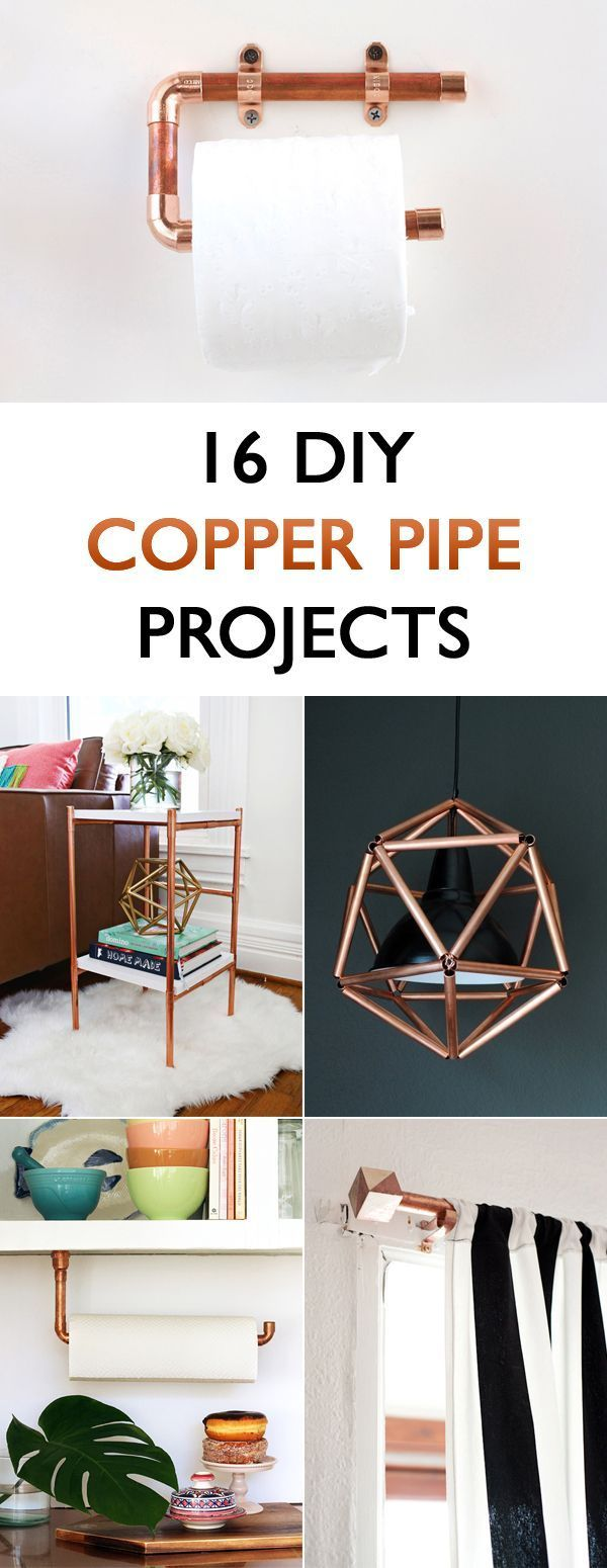 16 DIY Copper Pipe Projects For Home Décor is part of Home Accessories Decor DIY Projects - Add a touch of copper shine to your home!