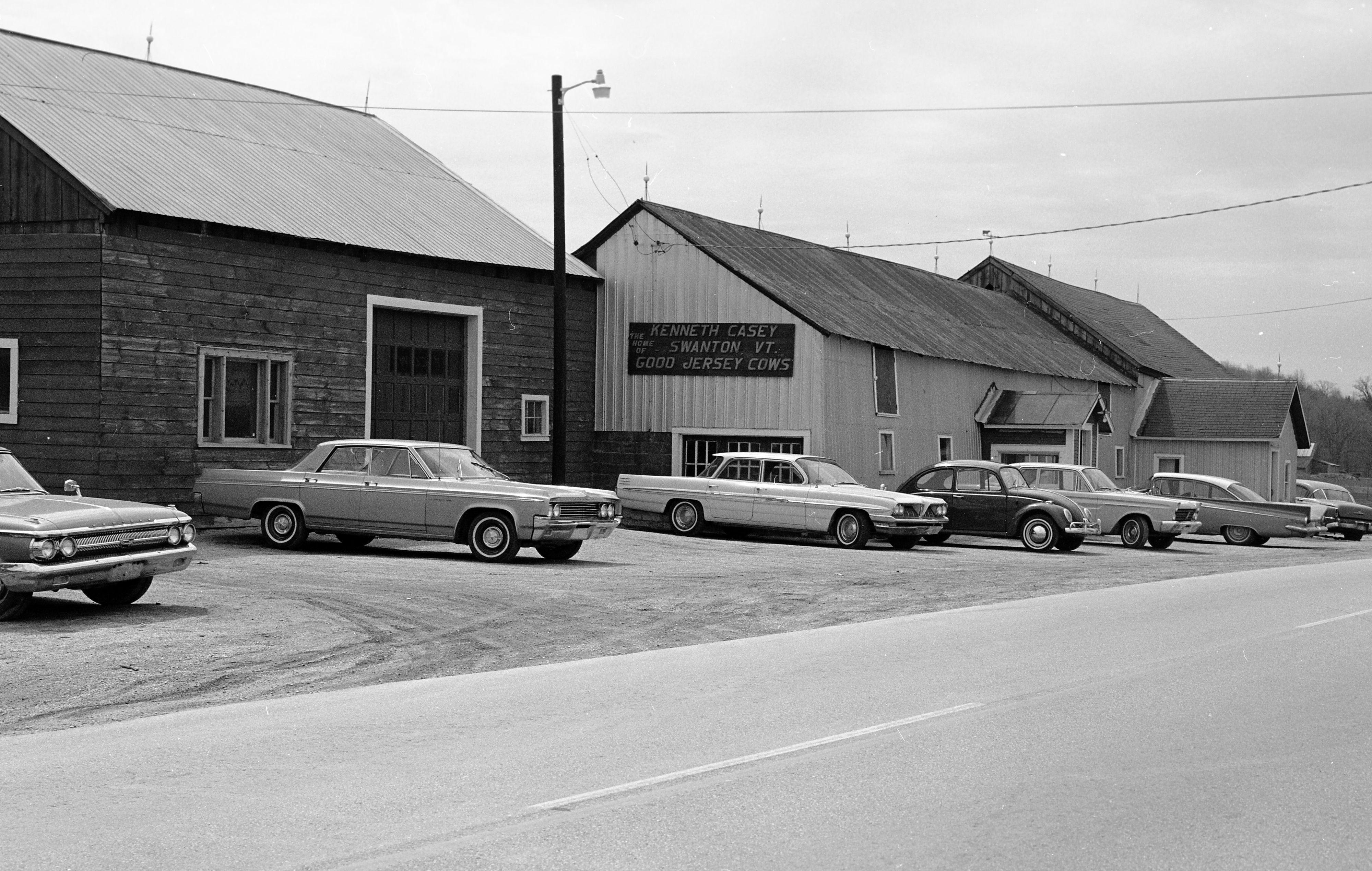 Swanton, VT, 1966. Vermont, Car dealership, Street scenes