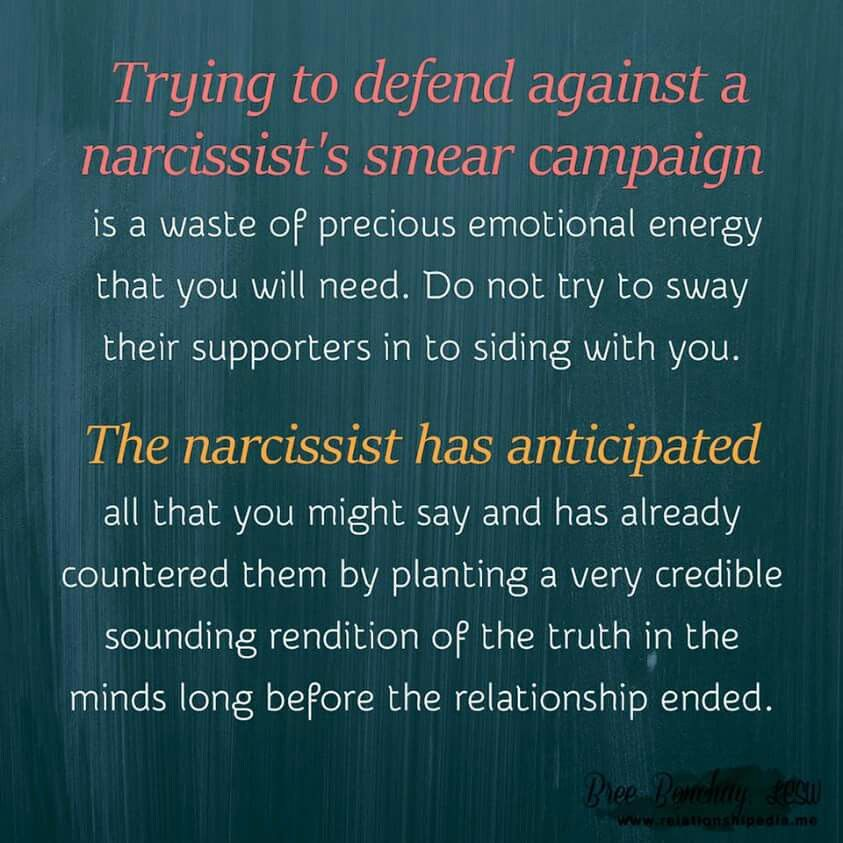 The narcissist's smear campaign  maternal narcissism  flying