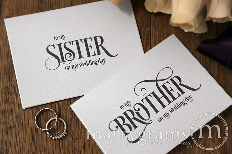 Wedding Day Note Card To Your Sister Brother In Law Or