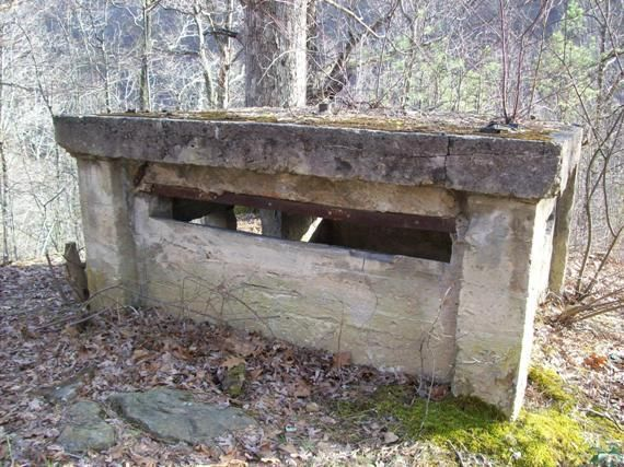 This Is A Concrete Pillbox Constructed On Cabin Creek During The