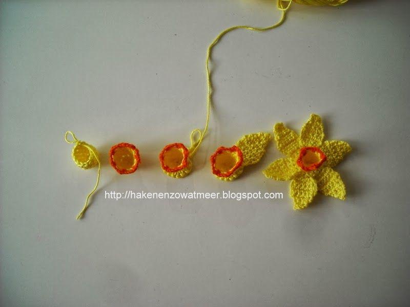 Gratis Patronen Haakpatroon Narcissen Crochet Stitches And