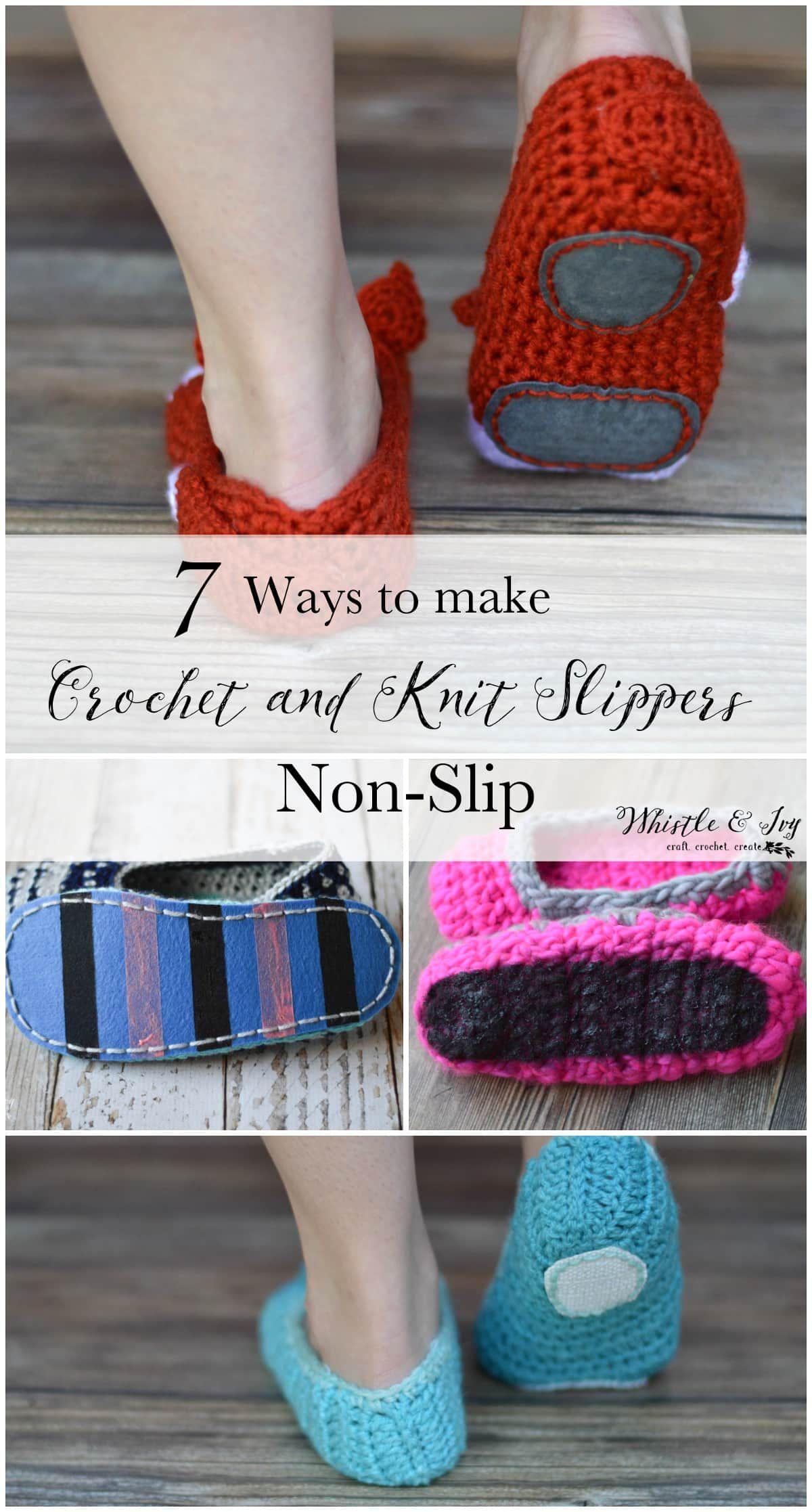 How to make crochet slippers nonslip 7 tested nonslip
