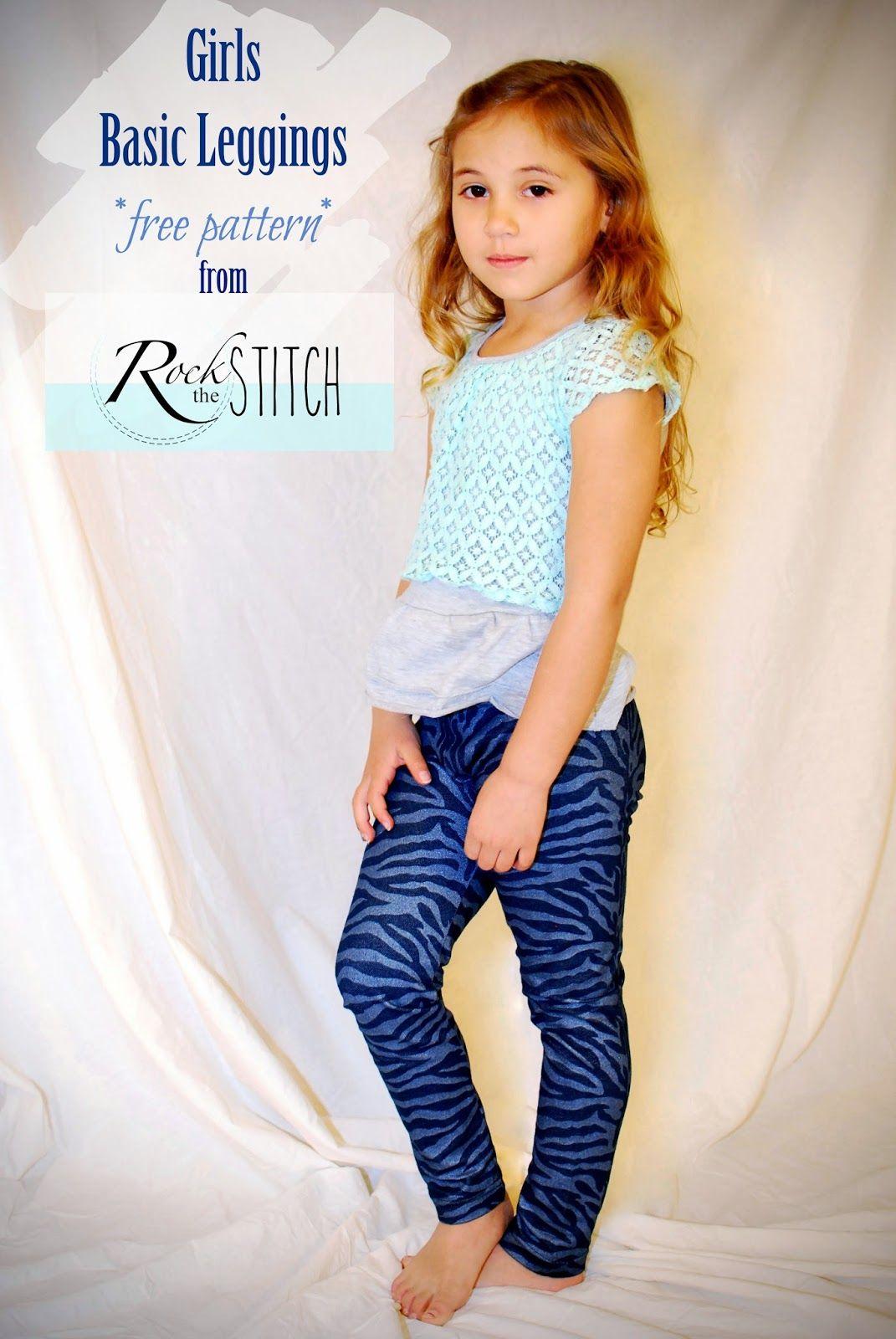 Rock the Stitch: Girls Basic Leggings - free pattern!Size 6 ...
