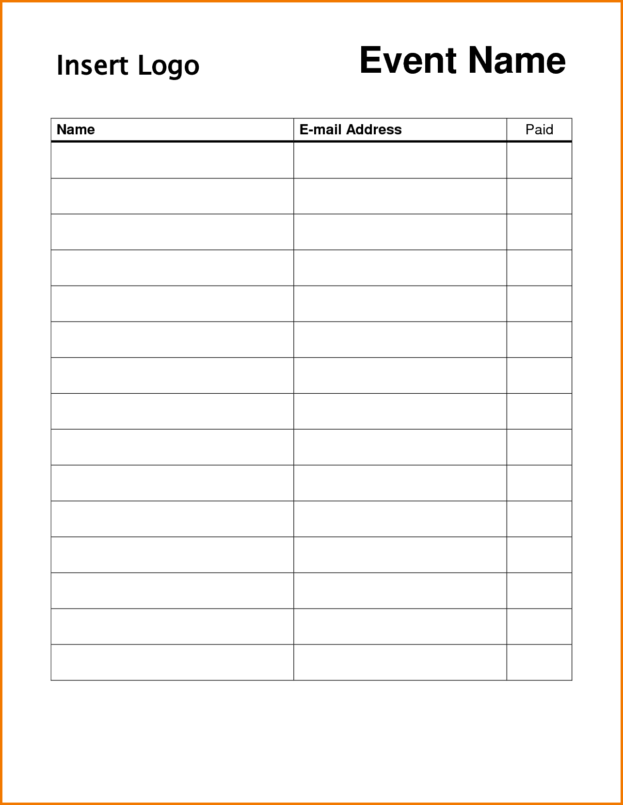 Printable Sign Up Sheet Template Authorization Letter Pdf