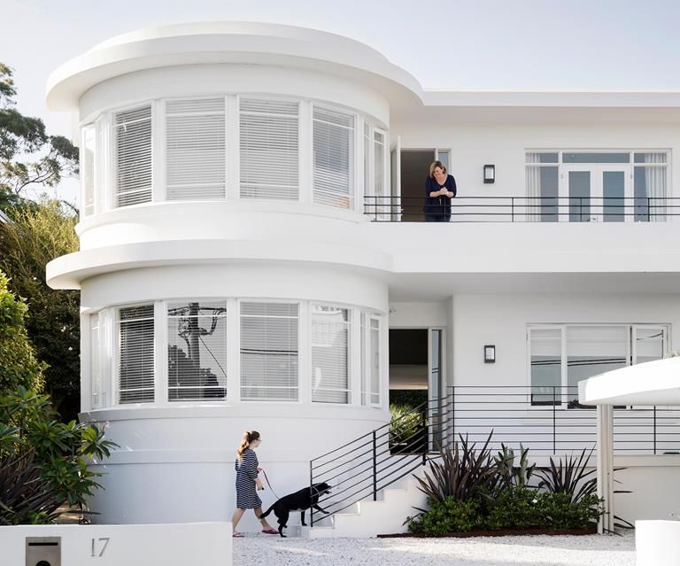 Masterful restoration of an old art deco home also in rh pinterest