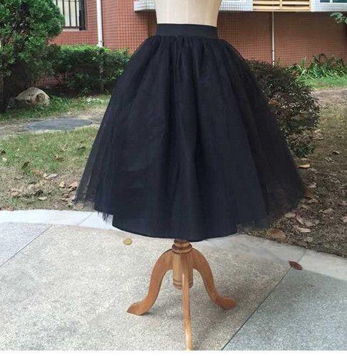 Women Chiffon Tulle Skirt White High waist Midi Knee Length plus size