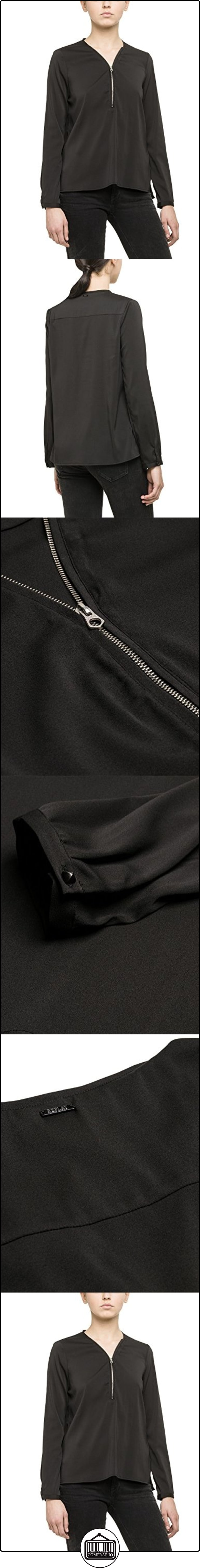 Blusa Replay 44 98 black Mujer Tunika Negro anqw5UFq7B
