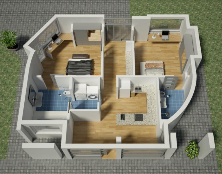 Sunconomy S Plan B Design Image Via Sunconomy 3d Printed House Small House Design Plans Small House Design