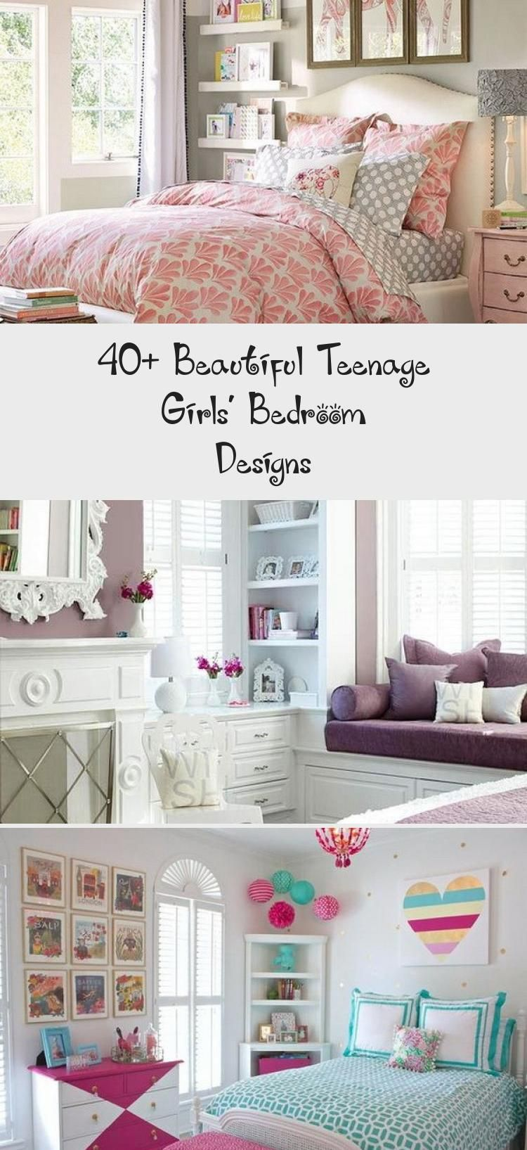 40+ Beautiful Teenage Girls' Bedroom Designs - Decor #teenagegirlbedrooms