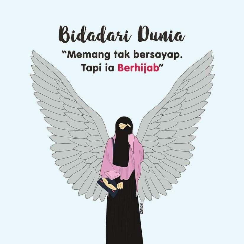 gambar kartun muslimah bercadar #Kartun #muslimah #Cartoon ...