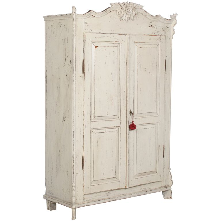Gentil 1stdibs   Scandinavian White Distressed Painted Armoire, Circa 1870 Explore  Items From 1,700 Global Dealers