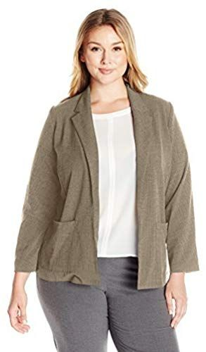 New Briggs New York Women's Plus-Size Bistretch Long-Sleeve Jacket online - Topselectsclothing 1