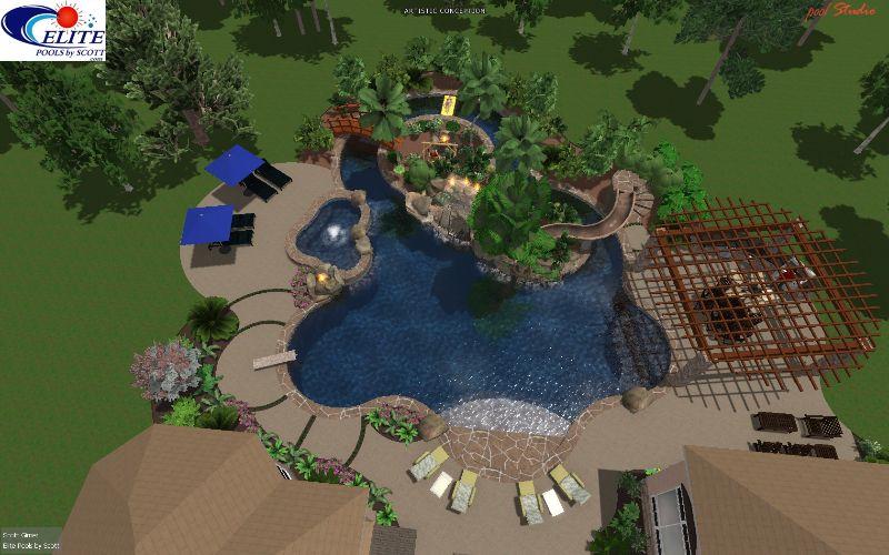 Doris & Dennis B. - Elite Pools By Aloha | Pool ... on Elite Pools And Outdoor Living id=97907