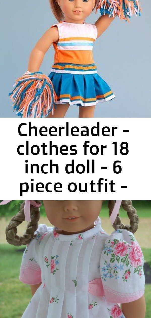 Cheerleader - clothes for 18 inch doll - 6 piece outfit - blouse, skirt, headband, pompons, socks an #18inchcheerleaderclothes Cheerleader - 6 piece cheerleader outfit includes blouse, skirt, headband, pompons, socks and shoes - American Girl Doll Clothes  Beach Party - Clothes for 18 inch Doll - 3 Piece Outfit - Pink Swimsuit, Yellow Wrap and Beach Bag This site is packed with DIY 18 inch doll ideas.  My girls are going to FLIP! #18inchcheerleaderclothes Cheerleader - clothes for 18 inch doll - #18inchcheerleaderclothes