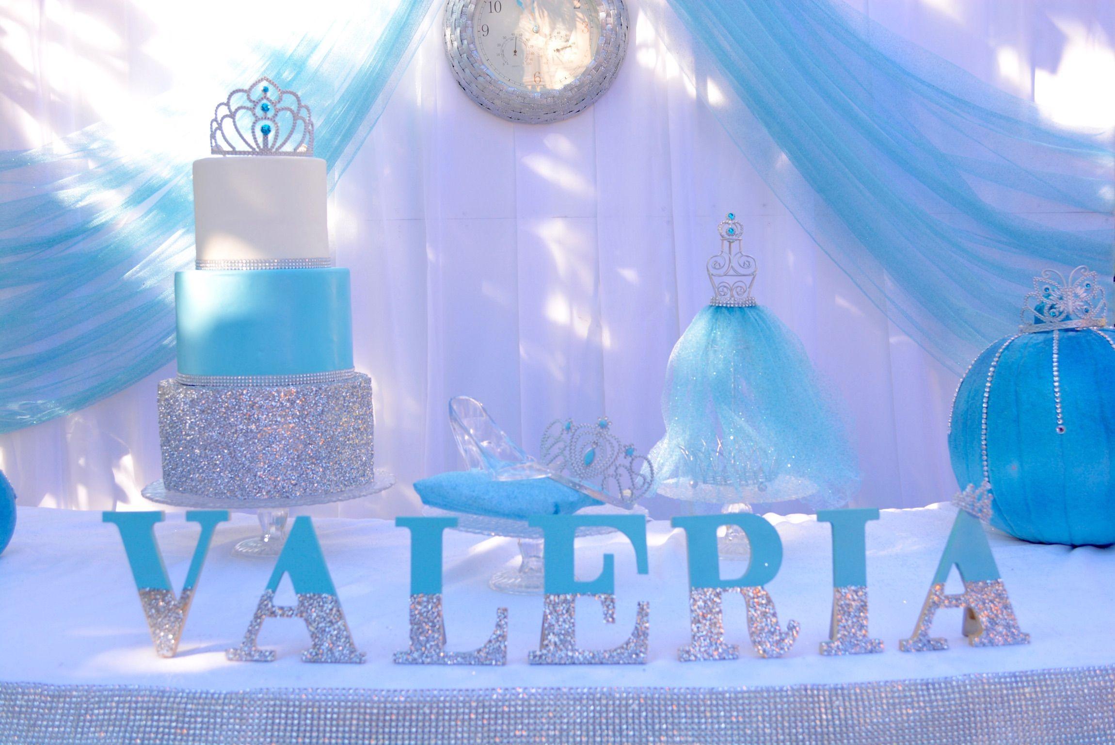 Cinderella Birthday Party Cake Table Princess Blue Girl Cinderella Birthday Party Centerpieces Cinderella Birthday Party Cinderella Baby Shower