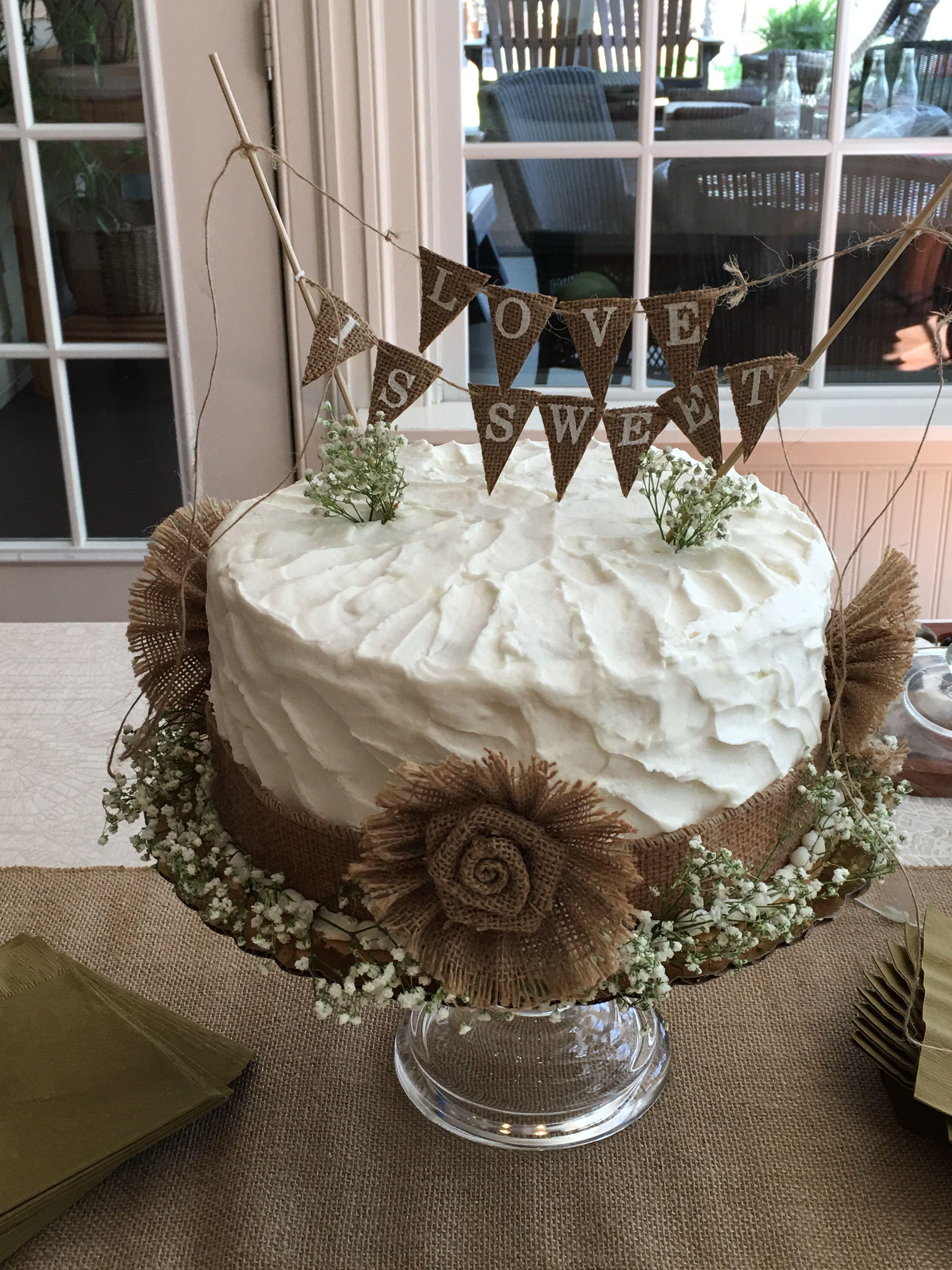 Wedding cake table decoration ideas  Bridal Shower Cake  cake made by Bakers Kitchen Richmond VA