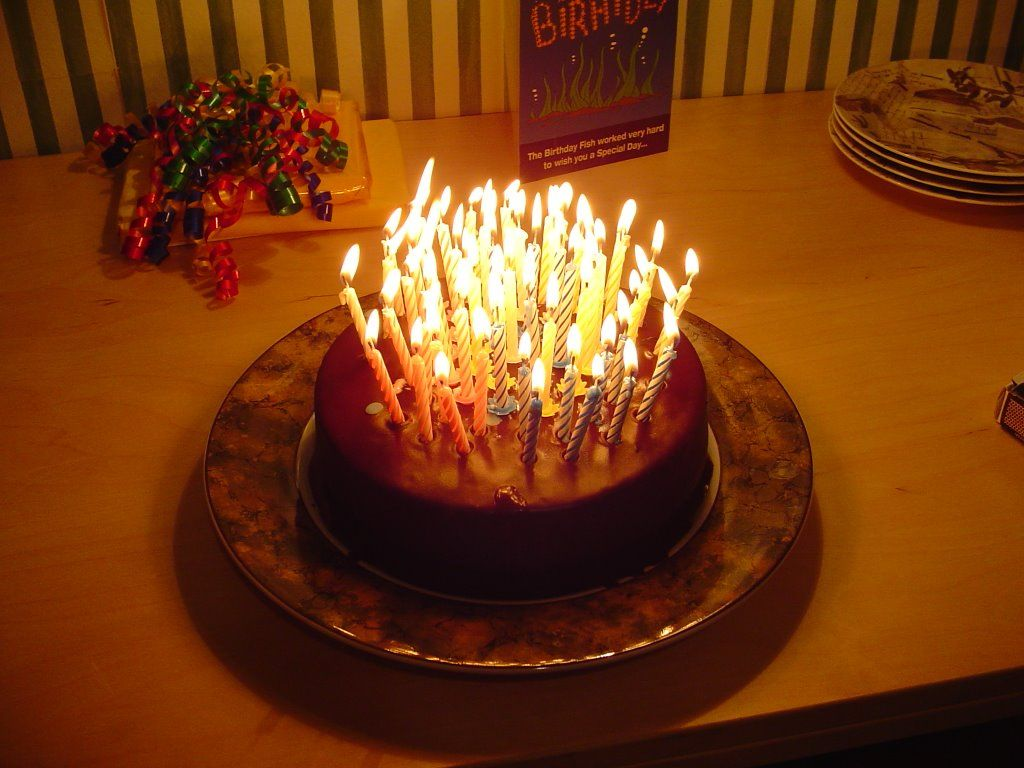 Happy birthday cake with lots of candles http://birthday ...