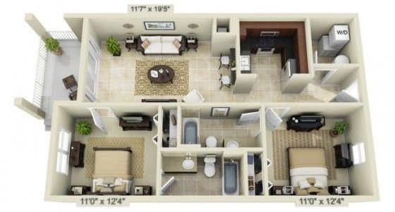 3d Floor Plans House Plans Small House Plans House Layouts