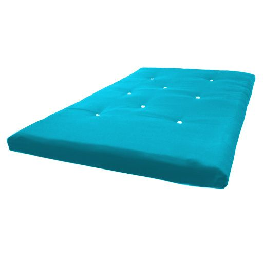 Awesome Futon Mattress Blue Color