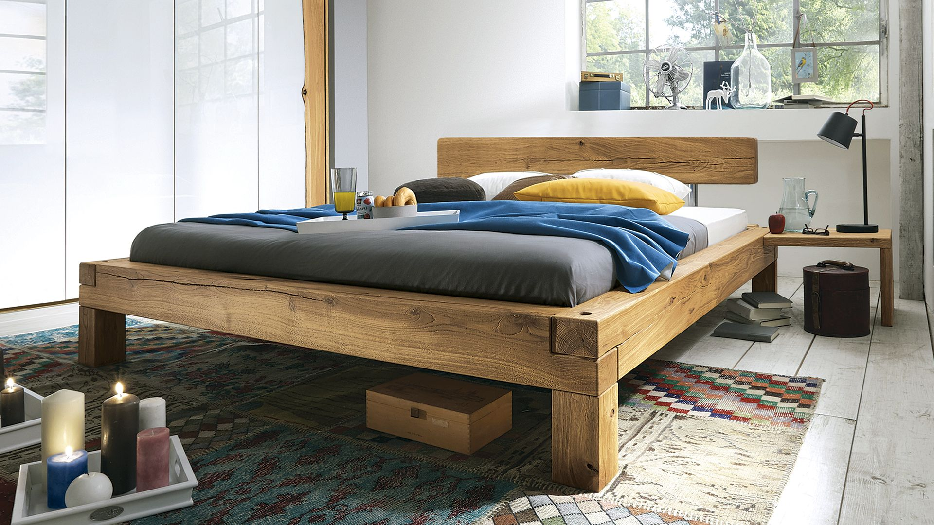 """Balkenbett """"Madea"""" (mit Bildern) Haus deko, Holz"""