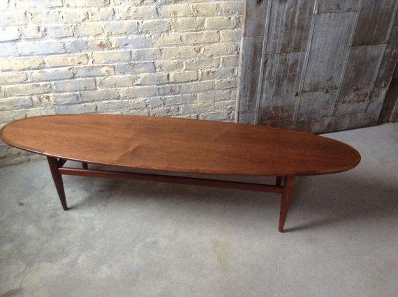 Mid Century Danish Modern Surfboard Table