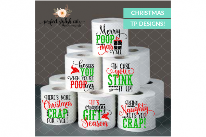 Pin by Marie Fudge on Circut Christmas toilet paper
