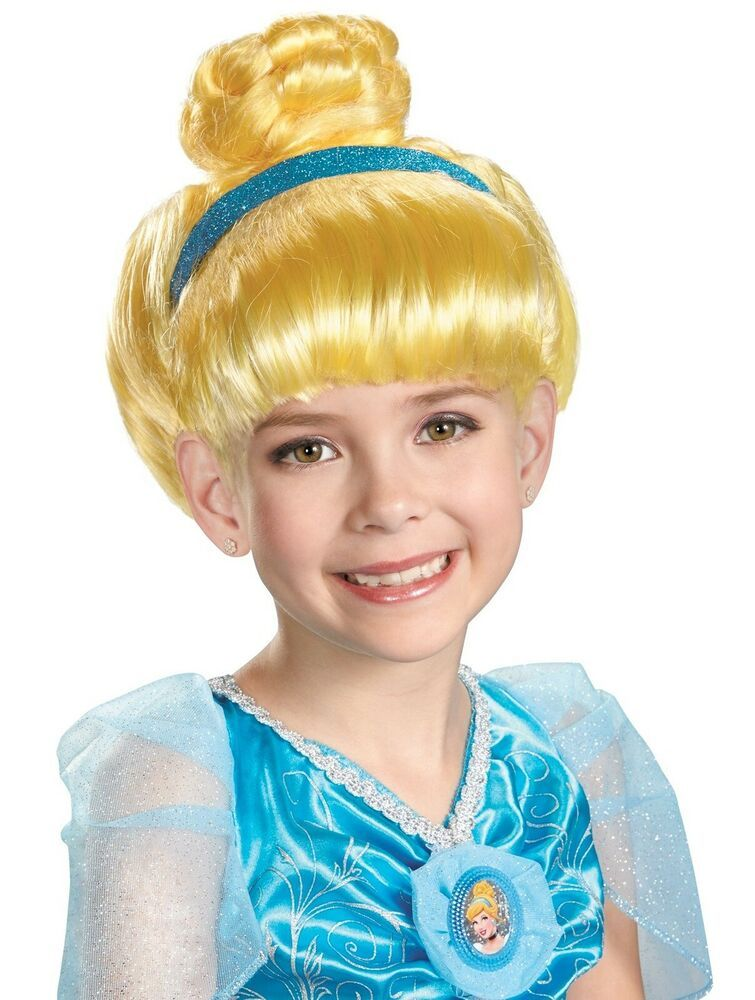 Cinderella Wig Disney Princess Fancy Dress Up Halloween Child Costume Accessory
