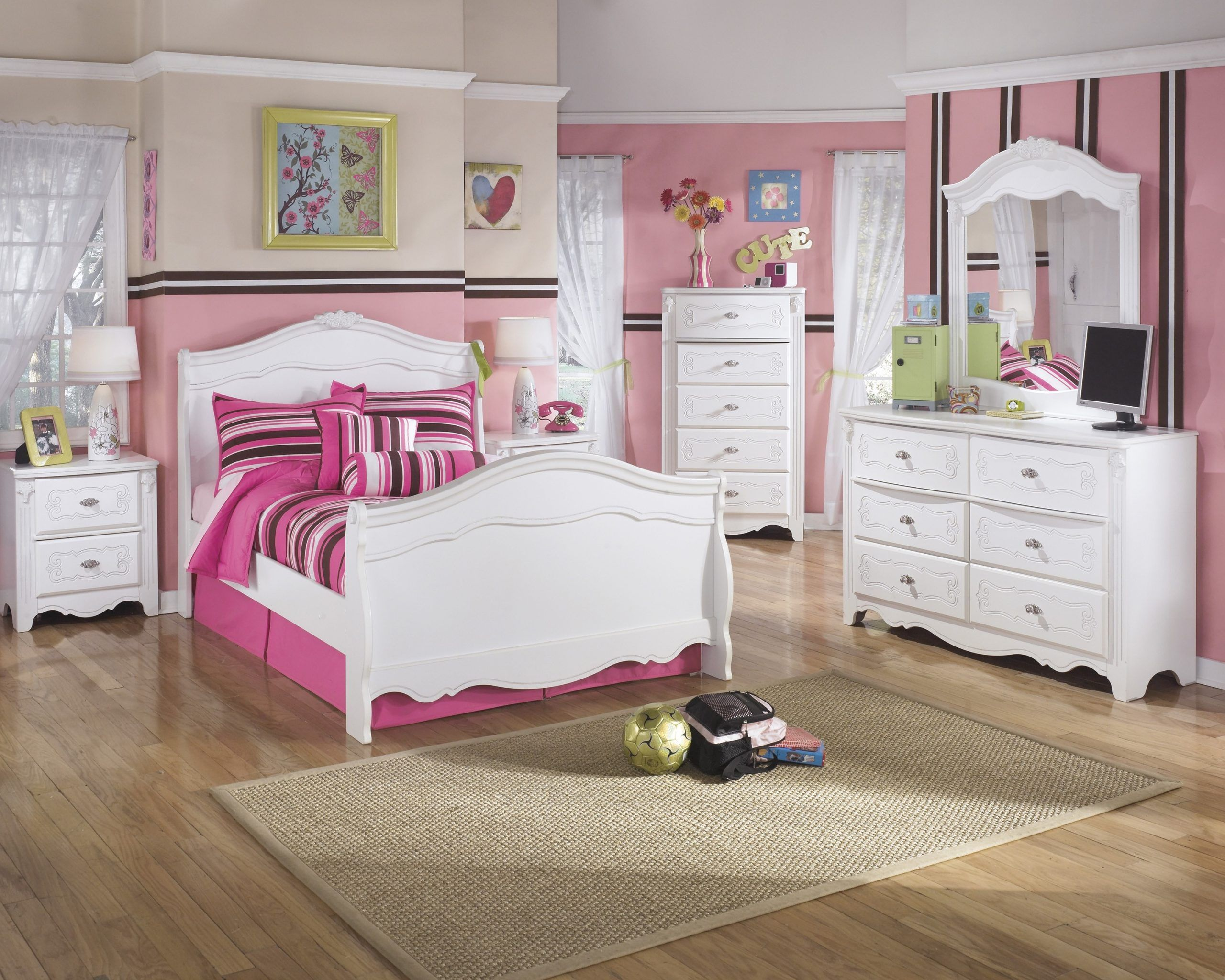 Ashley White Bedroom Set Ashley Furniture Exquisite Sleigh