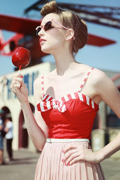 Red with candy apple.  Must have something red, there are a lot of ideas that require red