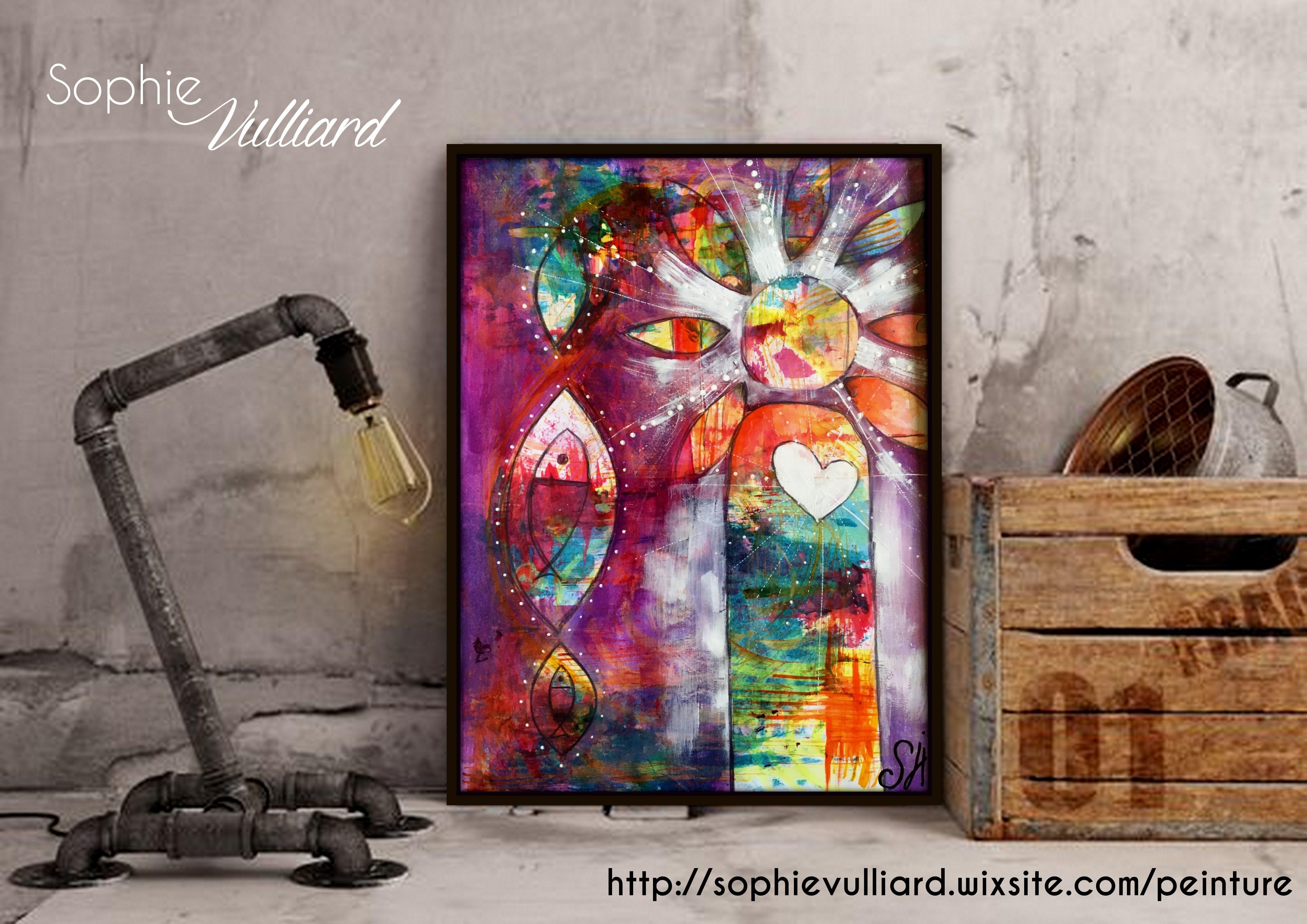 By Sophie Vulliard Peinture Intuitive A L Acrylique Sur Papier