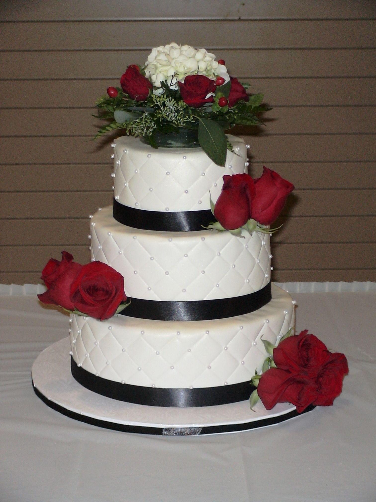 Quilted Fondant Wedding Cake